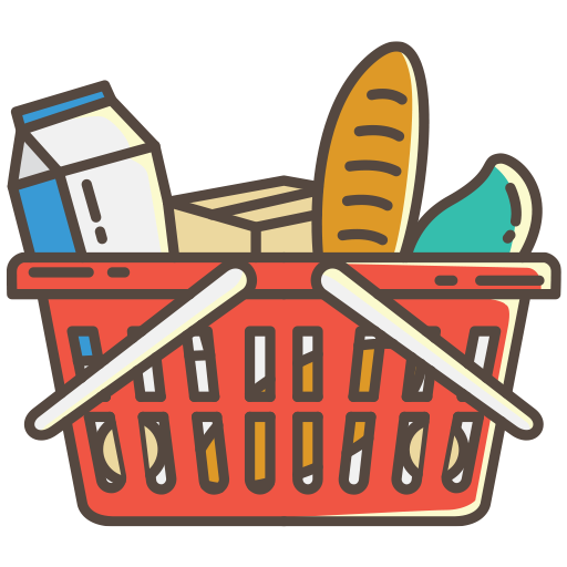 Shopping Basket with Food 1